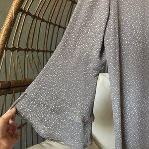 LOFT Tops - LOFT Woven Flare Sleeve Blouse